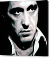 Scarface Canvas Print by Luis Ludzska