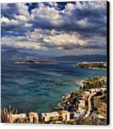 Scenic View Of Eastern Crete Canvas Print by David Smith