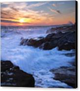 Schoodic Seas Canvas Print by Patrick Downey