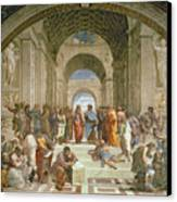 School Of Athens From The Stanza Della Segnatura Canvas Print by Raphael