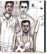 Schoolyard Chums Canvas Print by Al Goldfarb