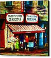Schwartzs Famous Smoked Meat Canvas Print by Carole Spandau
