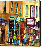 Schwartz's Hebrew Deli On St. Laurent In Montreal Canvas Print