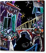 Scorcio Veneziano - Venise Art Dessin - Dibujo Canal De Venecia Canvas Print