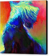 Scottish Terrier Dog Painting Canvas Print