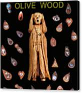 Scream Olive Wood Canvas Print by Eric Kempson