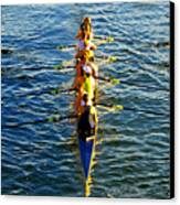 Sculling Women Canvas Print