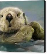 Sea Otter Canvas Print by Crispin  Delgado