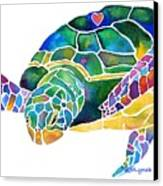Sea Turtle Celebration 4 Prints Only Canvas Print