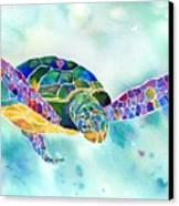 Sea Weed Sea Turtle  Canvas Print by Jo Lynch