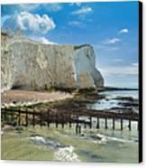 Seaford Cliffs Canvas Print