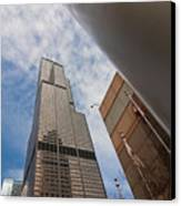 Sears Tower From Across The Street Canvas Print
