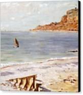 Seascape At Sainte Adresse  Canvas Print by Claude Monet