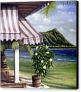 Seaside Hotel Canvas Print by Sandra Blazel - Printscapes