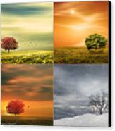 Seasons' Delight Canvas Print by Lourry Legarde