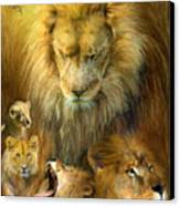Seasons Of The Lion Canvas Print by Carol Cavalaris