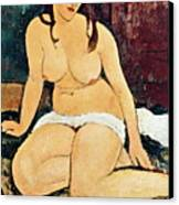 Seated Nude Canvas Print
