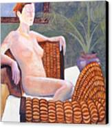 Seated Nude Canvas Print by Don Perino