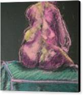 Seated Pink Nude Canvas Print