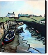 Seaton Sluice Harbour Canvas Print