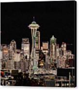 Seattle A Glow Canvas Print