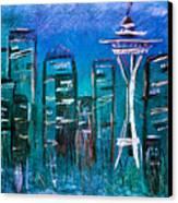 Seattle Skyline 2 Canvas Print by Melisa Meyers