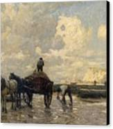 Seaweed Gatherers Canvas Print by Terrick Williams