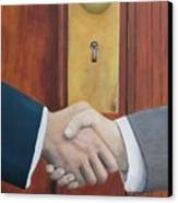 Secret Handshake Canvas Print