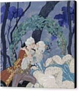 Secret Kiss Canvas Print by Georges Barbier