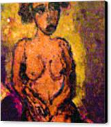 Seduction Canvas Print by Noredin Morgan
