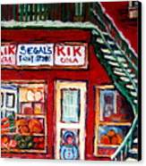 Segal's Market St.lawrence Boulevard Montreal Canvas Print