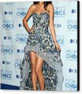 Selena Gomez Wearing An Irina Shabayeva Canvas Print by Everett