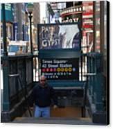Self At Subway Stairs Canvas Print by Rob Hans