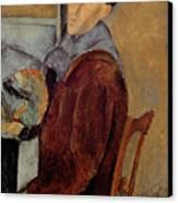 Self Portrait Canvas Print by Amedeo Modigliani