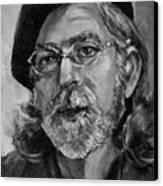 Self Portrait In Grey Canvas Print