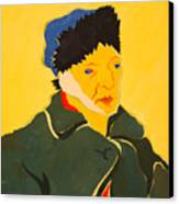 Self Portrait With Bandaged Ear. After Vincent Van Gogh Canvas Print