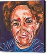 Self-portrait With Blue Jacket Canvas Print