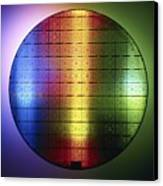 Semiconductor Wafer Canvas Print