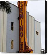 Seminole Theatre 1940 Canvas Print by David Lee Thompson