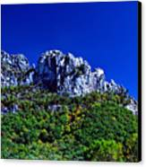 Seneca Rocks National Recreational Area Canvas Print by Thomas R Fletcher