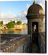 Sentry Post On Old City Wall Canvas Print