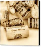 Sepia Corks Canvas Print by Cheryl Young