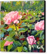 September Roses Canvas Print
