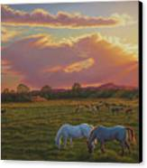 September Sunset In Taos Canvas Print