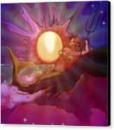 Sera Maroon Canvas Print