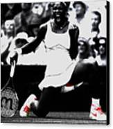 Serena Williams Victory Canvas Print by Brian Reaves