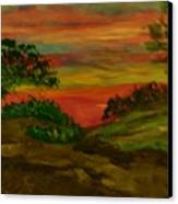 Serene Hillside II Canvas Print by Marie Bulger