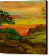 Serene Hillside I Canvas Print by Marie Bulger