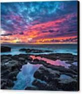 Serene Sunset Canvas Print by Robert Bynum