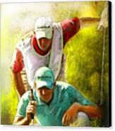 Sergio Garcia In The Madrid Masters Canvas Print